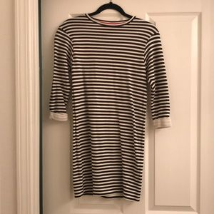TOP SHOP black and white striped dress